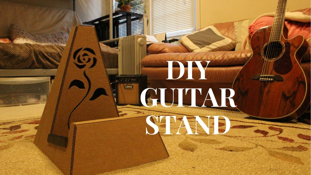 Diy Cardboard Guitar Stand Youtube