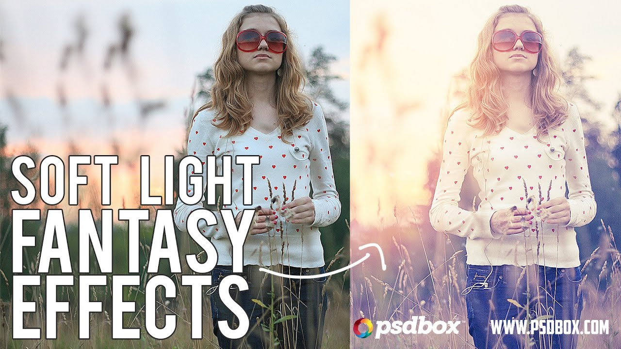 Soft light fantasy photo effects by psd box youtube baditri Image collections
