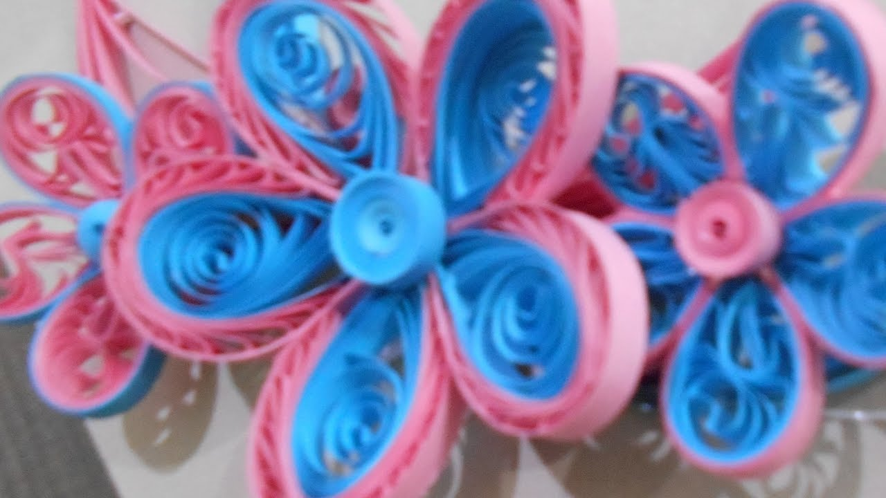 How To Make A Quilling Flower Using Comb