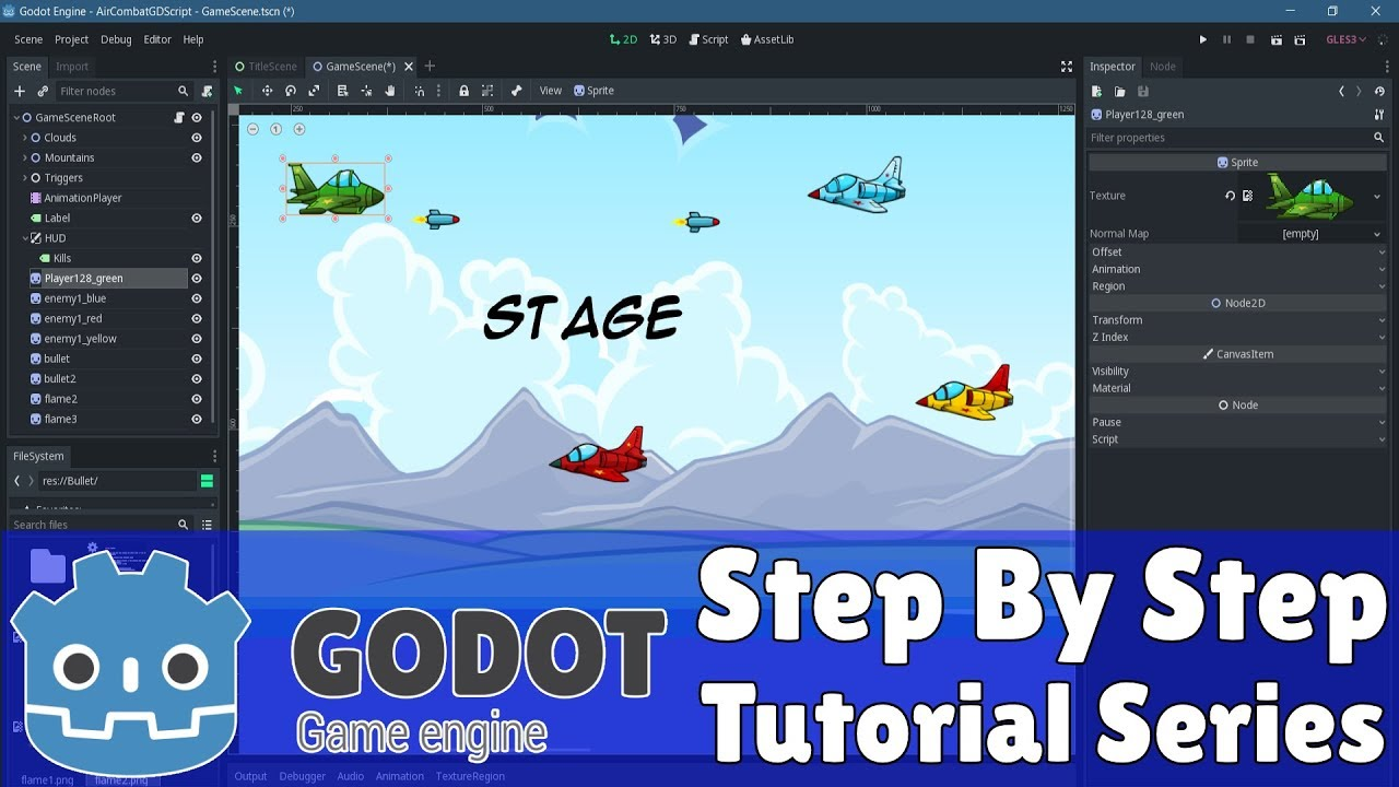 Godot 3 1 Complete 2D Game Step by Step Tutorial Series