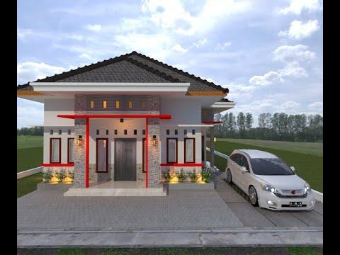 desain #11 desain rumah minimalis 8x15 4 kamar tidur - youtube