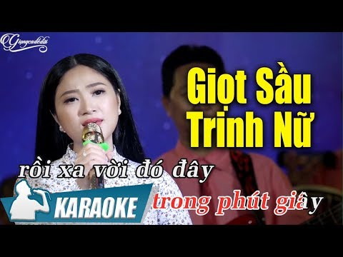 Giọt Sầu Trinh Nữ Karaoke Hoàng Kim Yến (Tone Nữ)   Nhạc Vàng Bolero Karaoke