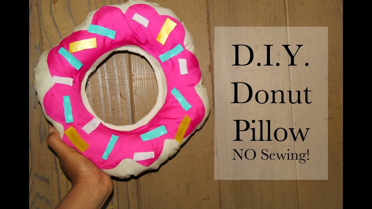 easy diy donut pillow no sewing