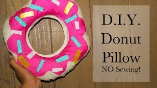 Easy DIY Donut Pillow No Sewing Thumbnail
