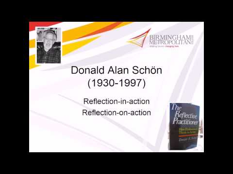 reflective practice donald schon examples Reflective practice is the ability to reflect on one's actions so as to engage in a process of continuous learning according to one definition it involves paying critical attention to the practical values and theories which inform everyday actions, by examining practice reflectively and reflexively.