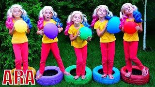 عجلات ملونة , Ulya plays with color wheels