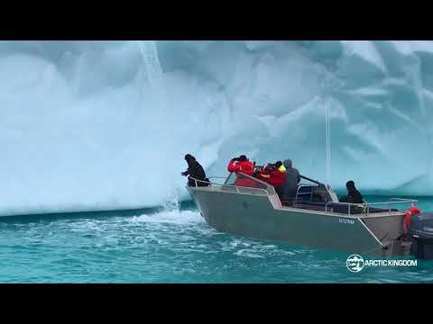Arctic Travellers Drink from Iceberg – Nature's Water Fountain!
