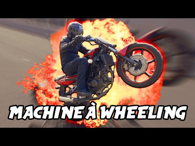JE TESTE UNE MACHINE À WHEELING 🏍