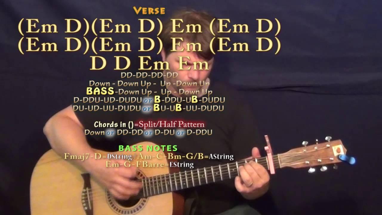 Money Longer Lil Uzi Vert Guitar Lesson Chord Chart Capo 1st