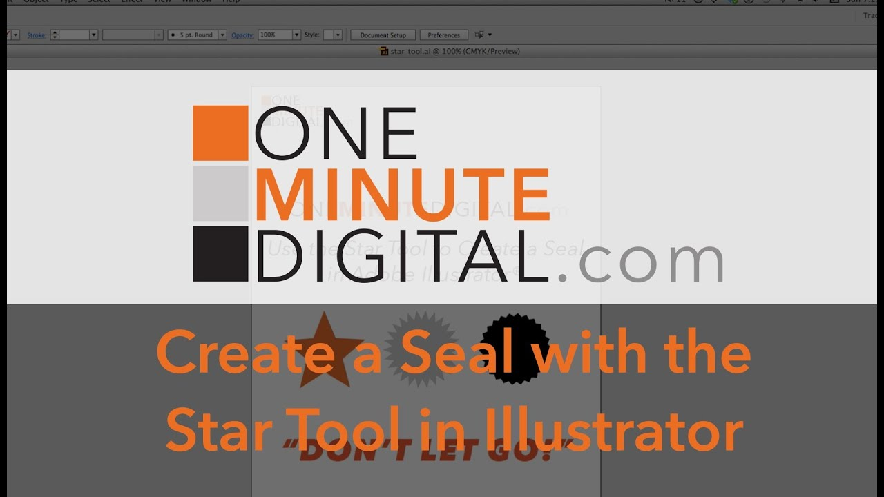 ILLUSTRATOR Create a Pointed Seal with the Star Tool -