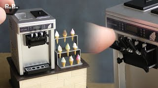 【Miniature】Ice Cream Machine made from scratch | 1:12 Scale