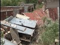 18 боксов превратились в груду камней после ливня в Хабаровске. Mestoprotv