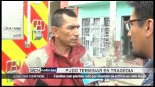 Trujillo: Incendio en edificio de la Calle Sucre fue controlado por los bomberos
