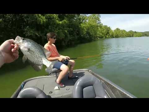 Table Rock Lake Crappie Fishing In July