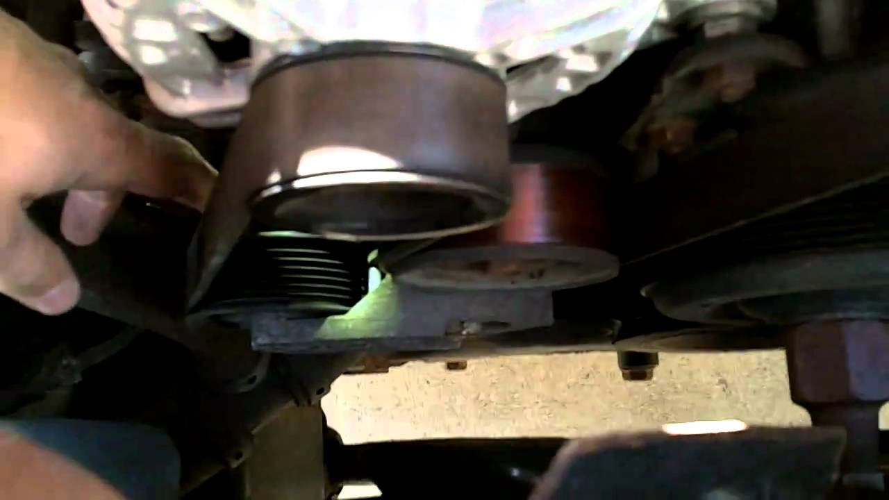 How to change the serpentine belt on a 2003 Dodge Ram 1500  YouTube