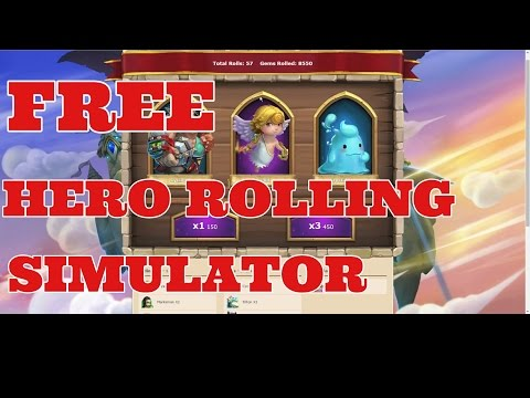 Castle Clash Free Hero Rolling Simulator!