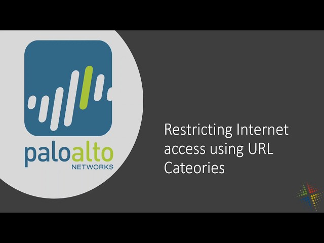 Restrict internet access using URL Categories in the Palo Alto Security Policy