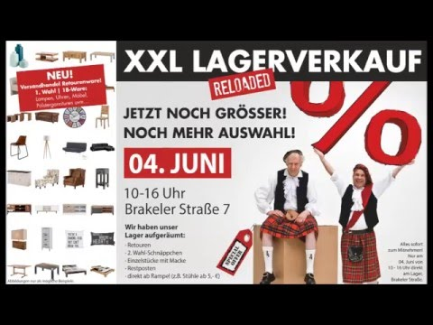 xxl lagerverkauf amd m bel in bad driburg am 04 juni 2016 youtube. Black Bedroom Furniture Sets. Home Design Ideas