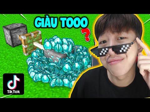 Máy Thông Ra 9999 Kim Cương 😲 - VINH THỬ NGHIỆM CÁC VIDEO TIKTOK MINECRAFT TRIỆU VIEW (Phần 16)
