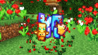 Minecraft UHC but flowers drop infinite blessed items..