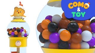 Como and Toys | capsule toy machine | Learn colors and words | Cartoon video for kids | Como Kids TV