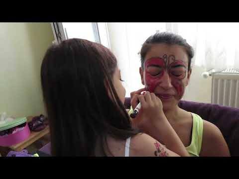 Download Mucize Uğur Böcegi Yüz Boyama Miraculous Ladybug Face