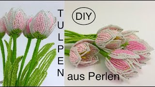 🌷 DIY: TULPEN aus Perlen. Tutorial: BEADED TULIPS. Anna's Perlen