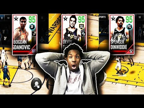PLAYING WITH THE NEW ALL-STAR WINNERS ON NBA LIVE MOBILE 18!!!