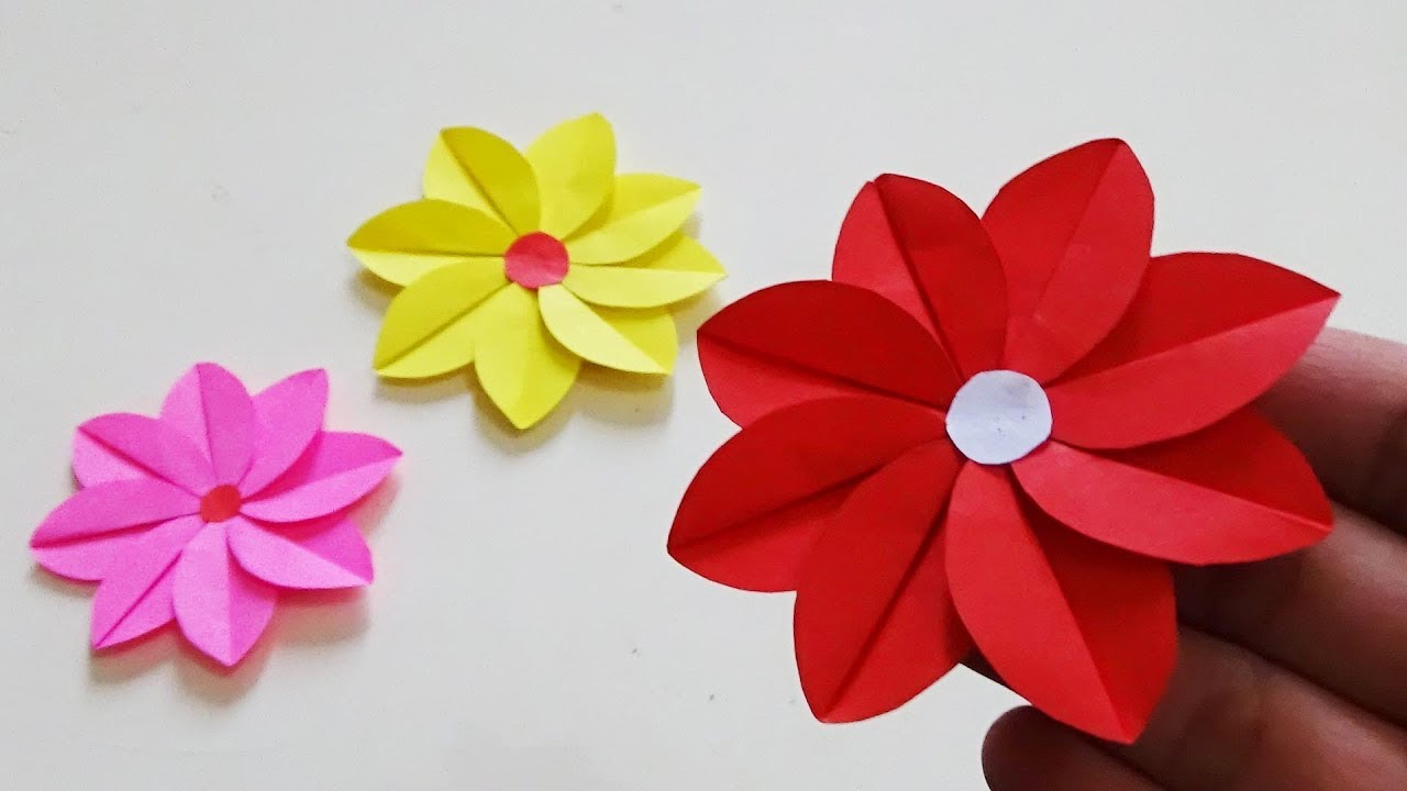 Cara Membuat Bunga Hiasan Dinding Paper Craft Youtube