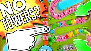 bloons td battles why does this guy have no towers dominating arena