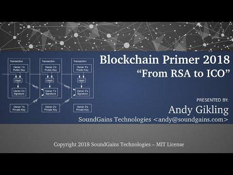 Blockchain Primer 2018