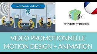 Animation Motion Design Video: Saas de tests de recrutement en ligne - Ma Pitom?! Video Productions