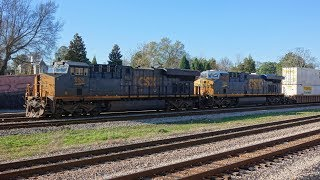 CSX freight train and shunting in Atlanta