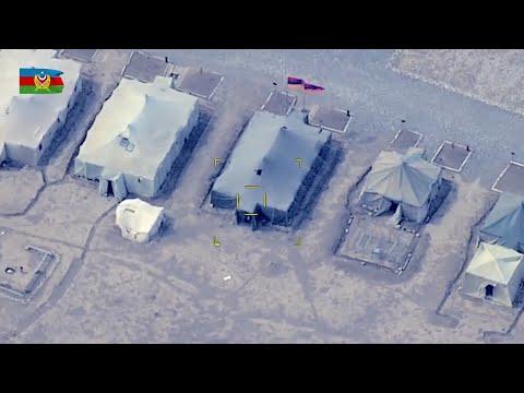 Видеозапись уничтожения полевого пункта управления и танков ВС Армении