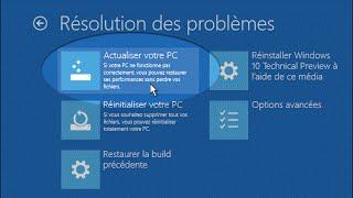 إعادة تهيئة الوندوز 10 .Réparation windows 10 sans CD