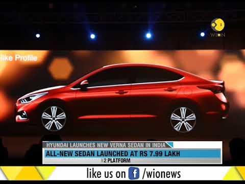 Hyundai launches all new Verna Sedan in India at Rs 7.99 Lakh