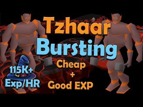 Tzhaar Ice Bursting Guide! Cheap + Fast Magic/Slayer Training! [OSRS[
