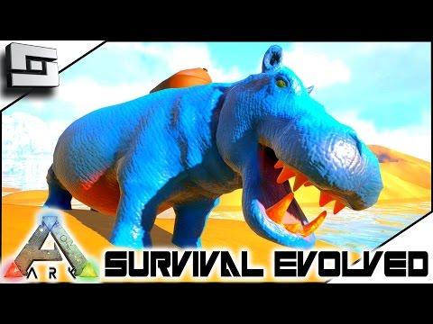 ARK: Survival Evolved - HIPPOPOTAMUS/BASILOSAURUS TAMING! E15 ( Modded Ark w/ Pugnacia Dinos )