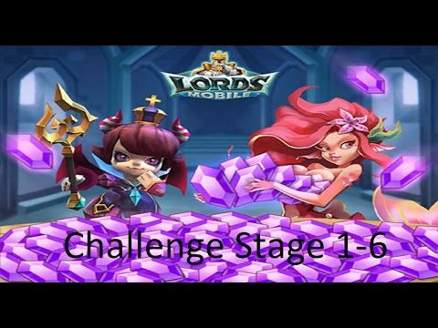 Lords Mobile: Challenge Stage 1-6