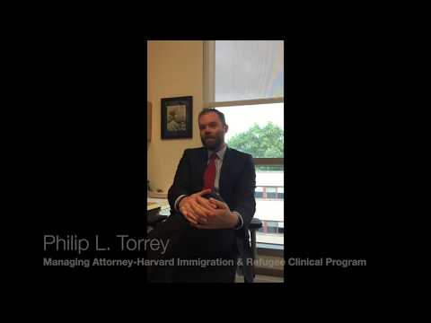 Harvard Immigration Clinic leader Phil Torrey praises TU Law's Preston Brasch