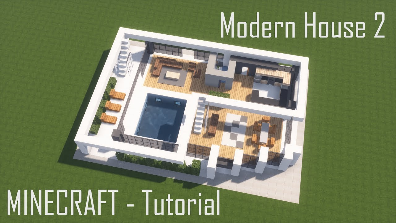 Modern House 2 Full Interior Minecraft Map