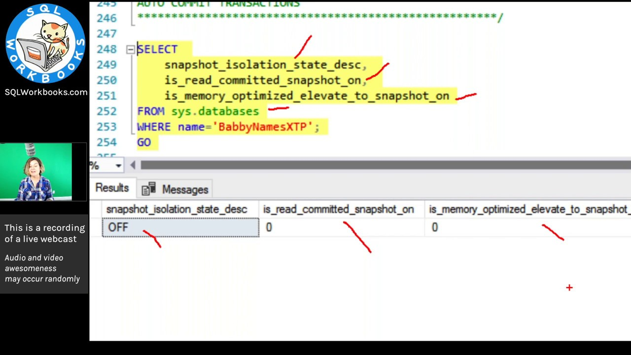 In-Memory OLTP and Isolation Levels in SQL Server (Webcast