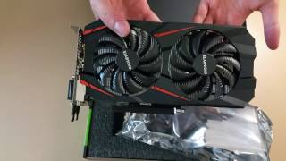 3GB Gigabyte GTX 1060 Windforce OC Edition Unboxing