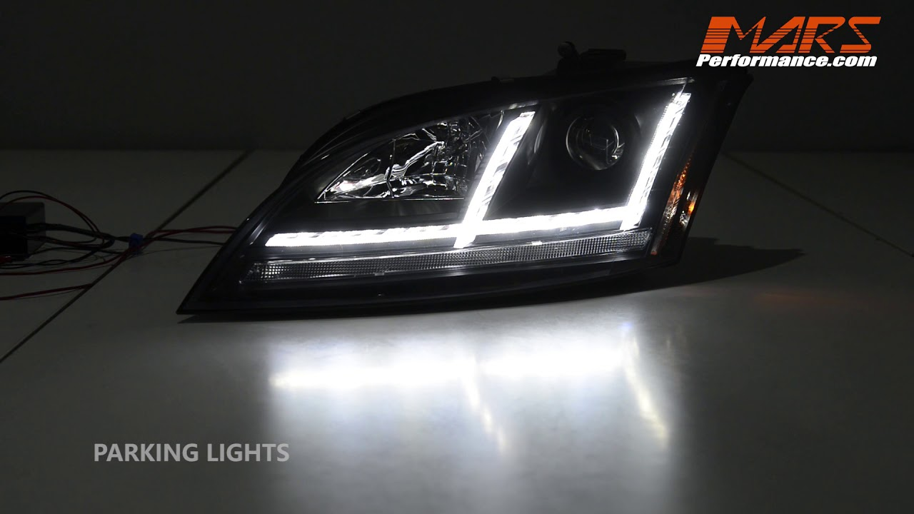 Black FV Style 3D DRL LED Projector Head Lights with