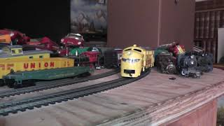 ho vintage nice varney union pacific diesel engine runs on track up video no box