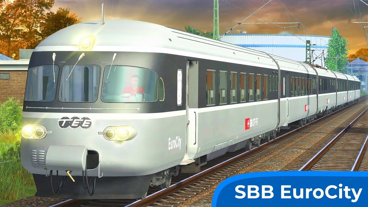 LUXUSZUG | Trans Europ Express – Köblitzer Bergland | TRAIN SIMULATOR 2020 | Graue Maus - SBB TEE