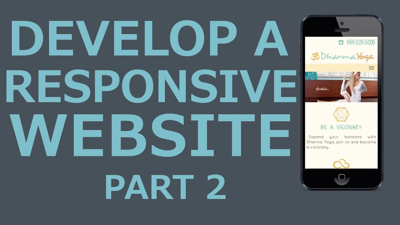 Develop A Responsive Website with HTML5, CSS3, jQuery - Part 2 Header, Navigation and Image Slider
