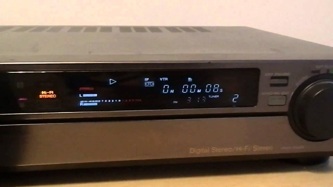 sony ev s550 stereo video cassette recorder video 8 youtube. Black Bedroom Furniture Sets. Home Design Ideas