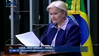 Ana Amélia critica presidente da CUT por dizer que se preciso pegarão em armas para defender Dilma