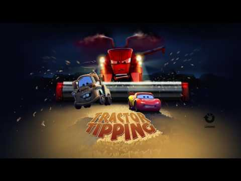 Cars 1 the Videogame - no com Episode 8 - TRACTOR TIPPING with Lightning Mcqueen and MATER